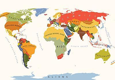 「想像以上にひどかった…」アメリカ人のイメージする世界地図:らばQ