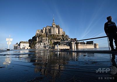 モンサンミッシェルが「孤島」に、春の大潮シーズン到来 仏 写真10枚 国際ニュース:AFPBB News