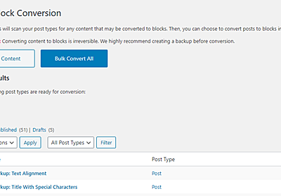 Convert Classic Content to Blocks With the Bulk Block Converter Plugin – WordPress Tavern