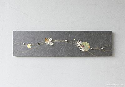 水引飾りを取付けて陰影を楽しむ−和紙マグネットアートパネル : 浅倉紙業株式会社 (ショールーム 紙あさくら)のブログ