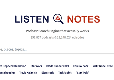 ポッドキャストに特化した検索エンジン「Listen Notes」は、ポッドキャストの検索に最適化されている | ライフハッカー[日本版]