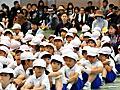 「弾道ミサイルから避難を!」山口で訓練、体育館に避難:朝日新聞デジタル