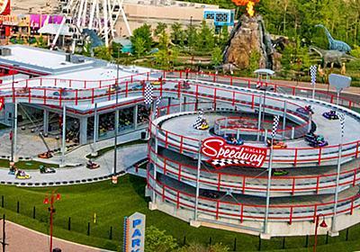 まさに現実版「マリオカート」、ビルの高さ4階分の立体ループつきゴーカート場が爆誕 - GIGAZINE