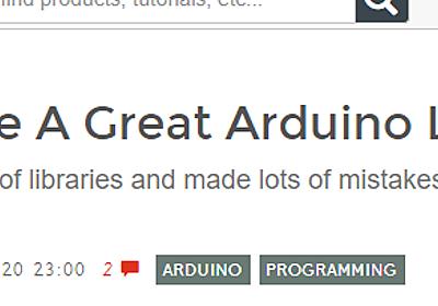 良いArduinoライブラリを書くためのTips集 – inajobのいろいろレビュー