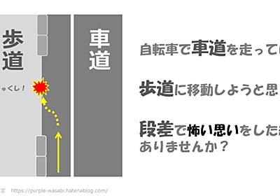 【動画】もう段差で転ばない!自転車の安全運転講習 - 紫わさび研究室