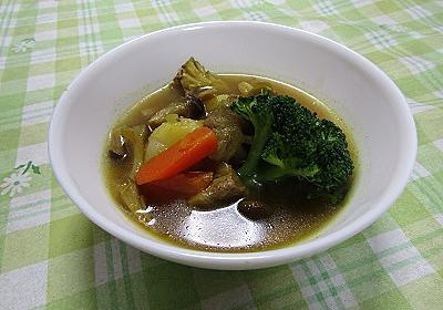 ダイエット料理、きのこのスープカレー - ダイエット始めます!!