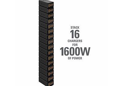 16台まで合体、最大1,600W出力できるType-C充電器 - PC Watch
