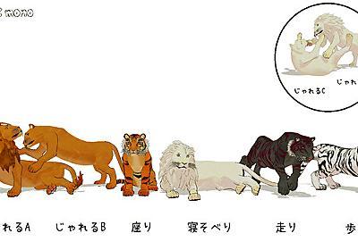 【配布】虎、獅子ポーズ / 麻(ま) さんのイラスト - ニコニコ静画 (イラスト)
