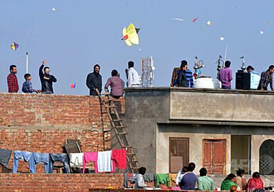 たこ揚げの糸にのど切られ3人死亡 インド 写真1枚 国際ニュース:AFPBB News