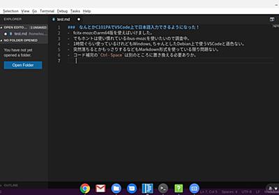 Chromebook C101PAでVSCodeを使う。(Crostini使用) - たねやつの木