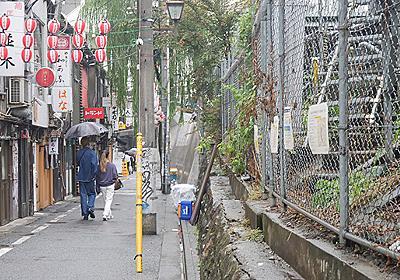 渋谷駅前の線路沿いに長芋やラズベリーが生えている :: デイリーポータルZ