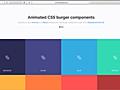 ハンバーガーメニューを簡単に実装できる、プレーンなHTML/CSSとReactコンポーネント -Animated Burgers   コリス