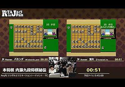 RTA in Japan 3 - 本将棋 内藤九段将棋秘伝シングルエリミネーショントーナメント