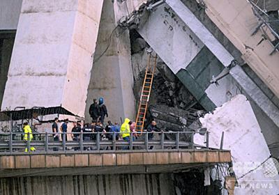 イタリア高架橋崩落、以前から構造上の問題指摘 「深刻な腐食」 写真3枚 国際ニュース:AFPBB News