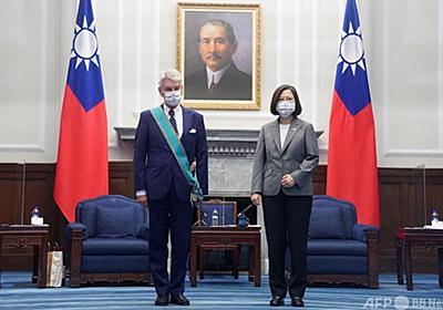 訪台中の元仏国防相、台湾を「国」と表現