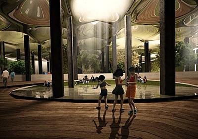 世界初の「地下公園」構想、昼光利用で廃墟を再生 | 日経 xTECH(クロステック)