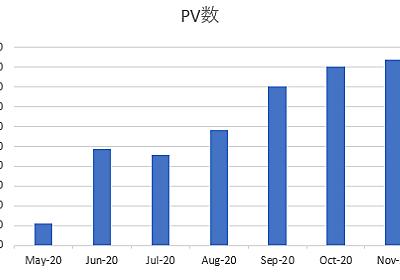 はてなブログの7か月目の運用結果!2020年11月のPVは?Google AdSenseとアフリエイト収入は? - シングルプレーヤーへの道は遠い?