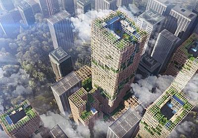 CNN.co.jp : 東京に「世界一高い木造ビル」の構想 41年完成へ - (1/2)