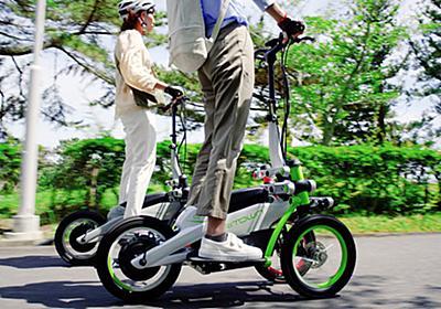 ヤマハ「電動キックボードの対抗馬」市場投入間近か 立ち乗り3輪「トリタウン」 | 乗りものニュース