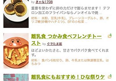 痛いニュース(ノ∀`) : 【はちみつ離乳食死】 クックパッドのレシピをめぐり物議 「離乳食 蜂蜜」147件 - ライブドアブログ