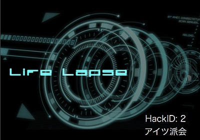 Hack Day 2016に参加して「Life Lapse」をつくって入賞しました! - inajob's blog