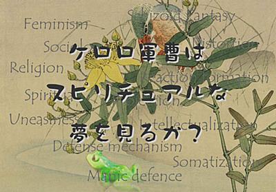 HPVワクチンと MizuhoH 氏 第3回 - ケロロ軍曹はスピリチュアルな夢を見るか?