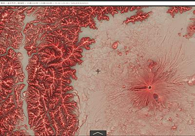 日本全国の「赤色立体地図」が見放題、国土地理院がウェブで公開 - INTERNET Watch