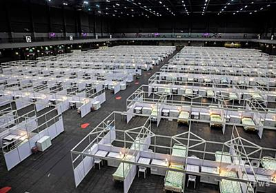 香港で仮設病院の稼働開始、コロナ感染者の急増で 写真13枚 国際ニュース:AFPBB News