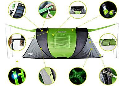 ソーラーパネル・ヒートコントロール・LED付きペグを備えたポップアップテント「Cinch!」 - GIGAZINE