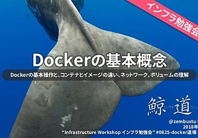 Docker道場「Dockerの基本概念」0825インフラ勉強会資料