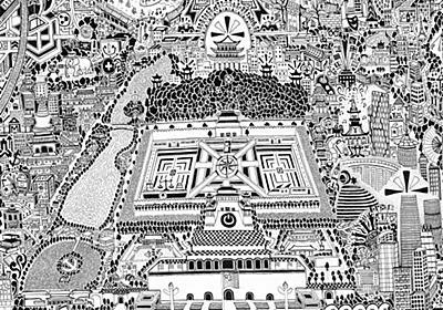 何度見ても面白い!詳しすぎる北京の手描き地図