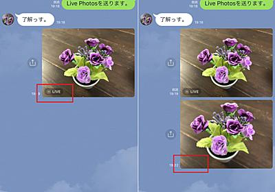 LINEでLive Photosを送れるようになったこと知ってた?:iPhone Tips - Engadget 日本版