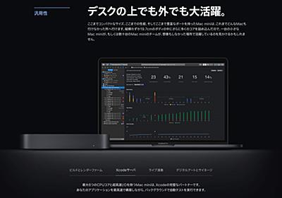 Mac mini (2018)はApple T2チップによりH.265/HEVCエンコードやXcodeのBuildタイムがiMac Pro並に高速化。 | AAPL Ch.