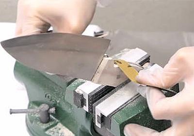 アルミホイルを叩いて熱して包丁を作るアルミホイル鍛冶士が登場 - GIGAZINE