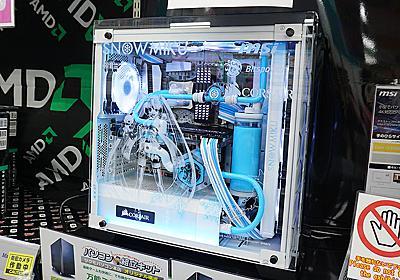 """初音ミク仕様の水冷PCに""""雪ミクバージョン""""が登場、ツクモで展示中 - AKIBA PC Hotline!"""
