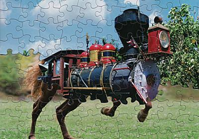 This artist uses jigsaw puzzles, with the same die cut pattern, to make these terrific mashups / Boing Boing