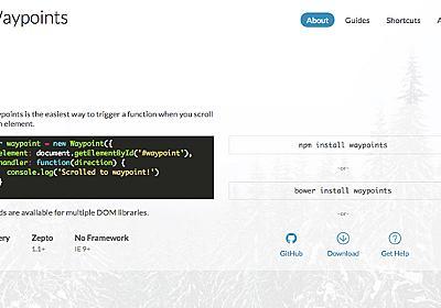 jQueryプラグイン「Waypoints」でスクロール中に要素が出現するサイトを作ろう! | Neganin(ネガニン)