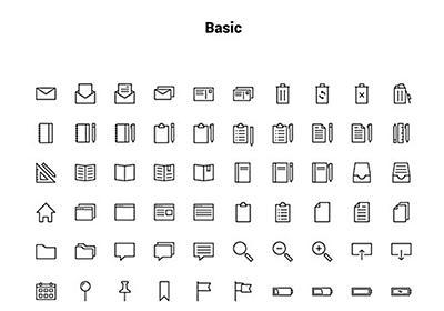 シンプルさを追求したデザインにおすすめなアウトラインアイコン「Linea: Free Outline Iconset」 | DesignDevelop