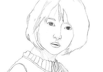 似顔絵『浜辺美波 No.3』目のラフがほぼ完成 - 画家&イラストレーター W_AKIRAのブログ