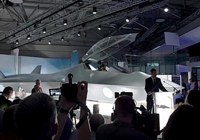 イギリスが次世代ステルス戦闘機「テンペスト」の実物大模型を公開 - GIGAZINE