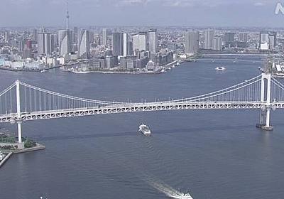 東京都 コロナ感染状況悪化時はレインボーブリッジ「赤点灯」 | NHKニュース