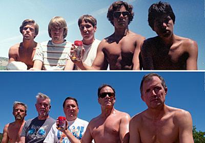 高校時代からの仲良し5人組が5年おきに35年間、同じポーズで写真を撮り続けた(アメリカ) : カラパイア