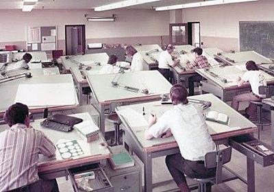 コンピューターで設計するツール「CAD」ができる前、製図台で図面を描いていたエンジニアたち : カラパイア