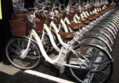 フォトレポート:電動自転車「eneloop bike」100台が太陽光発電で動く--世田谷区にソーラー駐輪場 - CNET Japan