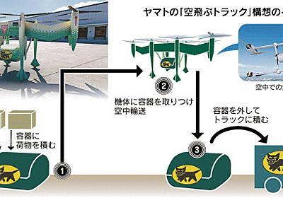 「空の物流革命」先陣争い ヤマトが無人輸送機  :日本経済新聞