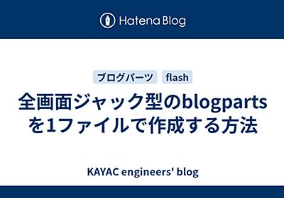 全画面ジャック型のblogpartsを1ファイルで作成する方法 - KAYAC engineers' blog