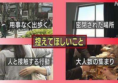 「特に若者は控えて」東京都 不要不急の外出自粛を呼びかけ | NHKニュース