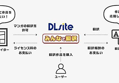 同人マンガをファンが翻訳して収益分配、DLsiteが新サービス オリジナル作品限定