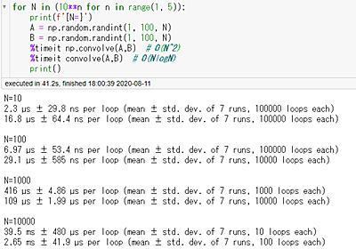 [数学・numpy] 高速フーリエ変換(FFT)による畳み込み | maspyのHP