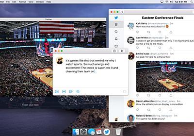TwitterがMac用アプリの開発を終了したのはTwitter for MacとiOSのコードベースが別れたからで、Project CatalystでmacOSに戻ってくるクライアントはiOSと同じコードベースに。 | AAPL Ch.